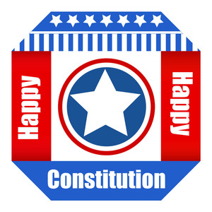 Patriotic Happy Constitution Day Vector Illustration