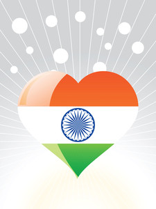 Patriotic Indian Heart Vector Illustration
