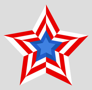 Patriotic Star Us 4th Of July Independence Day Vector Design