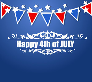 Patriotic Us 4th Of July Independence Day Vector Design