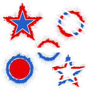 Patriotic Usa Theme Vector Set