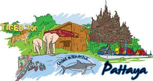 Pattaya Vector Doodle
