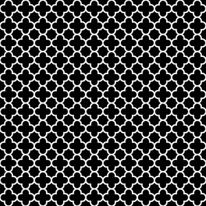 Pattern Of Black And White Quatrefoil