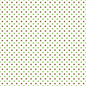Pattern Of Brown And Green Polka Dots On A White Background