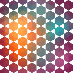 Pattern Of Geometric Shapes.texture With Flow Of Spectrum Effect. Geometric Background. Vector Trendy Pattern.