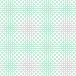 Pattern Of Mint Blue And White Circles