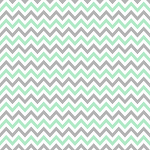 Pattern Of Mint Blue, Grey, And White Chevrons