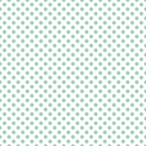 Pattern Of Mint Blue Polka Dots On A White Background