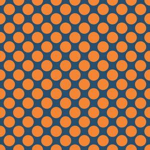 Pattern of orange polka dots on a blue background royalty free stock subscription library pattern of orange polka dots on a blue background altavistaventures Images