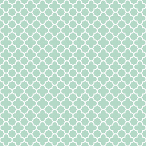 Pattern Of Pastel Blue And White Quatrefoil