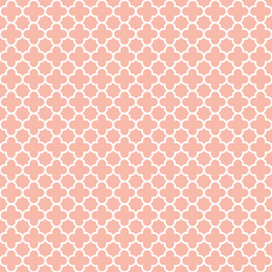 Pattern Of Pastel Pink And White Quatrefoil
