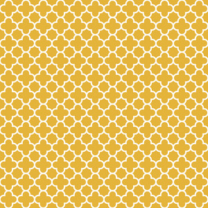 Pattern Of Pastel Yellow And White Quatrefoil