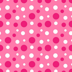 Pattern Of Pink And White Polka Dots On Minnie Mouse Paper