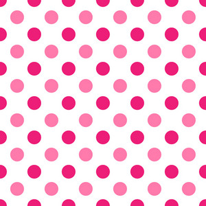 Pattern Of Pink Polka Dots On White Minnie Mouse Paper