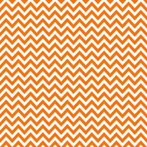 Pattern Of White And Orange Chevron