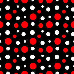Pattern Of White And Red Polka Dots On Black Minnie Mouse Paper