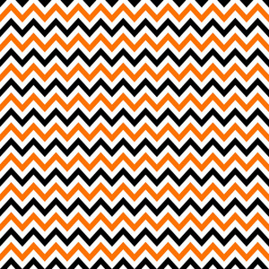 Pattern Of White, Orange, And Black Chevron