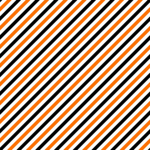 Pattern Of White, Orange, And Black Diagonal Stripes