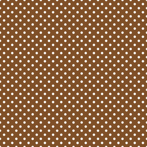 Pattern Of White Polka Dots On A Brown Background