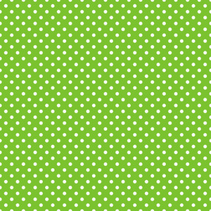 Pattern Of White Polka Dots On A Green Background