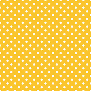Pattern Of White Polka Dots On A Lemon Yellow Background