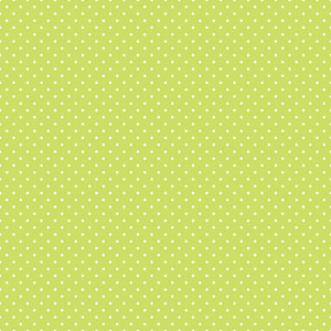 Pattern Of White Polka Dots On A Lime Green Background