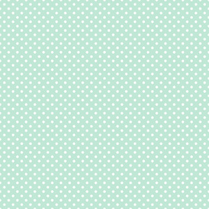 Pattern Of White Polka Dots On A Mint Blue Background