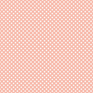 Pattern Of White Polka Dots On A Pastel Pink Background
