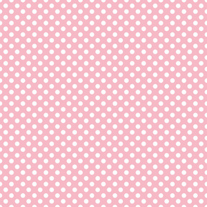 Pattern Of White Polka Dots On A Pink Background