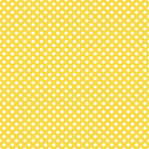 Pattern Of White Polka Dots On A Yellow Background