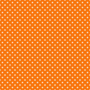 Pattern Of White Polka Dots On An Orange Background