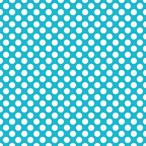 Pattern Of White Polka Dots On Aqua Dinosaur Paper