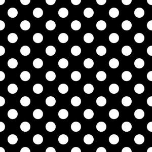Pattern Of White Polka Dots On Black Minnie Mouse Paper