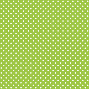 Pattern Of White Polka Dots On Green Monster Paper