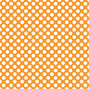 Pattern Of White Polka Dots On Orange Dinosaur Paper