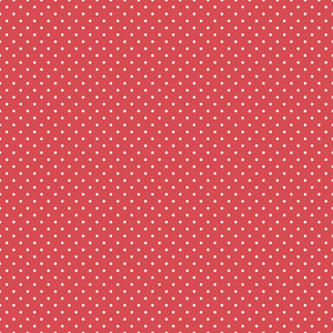 Pattern Of White Polka Dots On Red Hot Air Balloon Paper