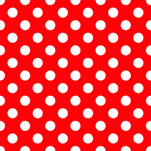 Pattern Of White Polka Dots On Red Minnie Mouse Paper