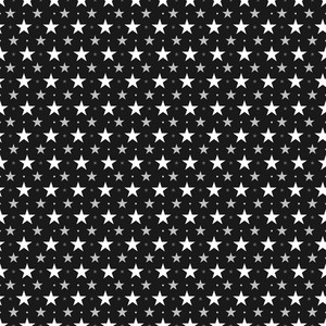 Pattern Of White Stars On A Black Background