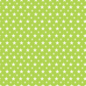 Pattern Of White Stars On A Lime Green Background