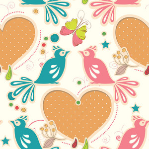 Pattern Vector Element With Birds