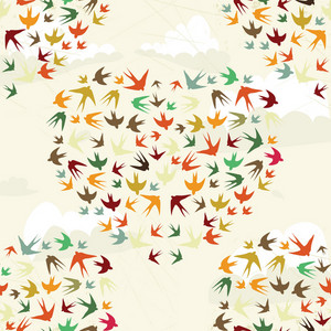 Pattern Vector Element With Cartoon Elements