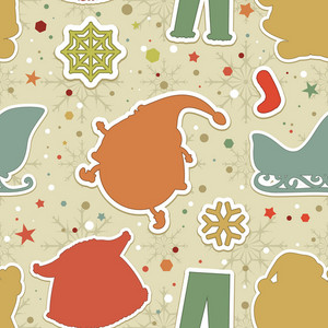 Pattern Vector Element With Christmas Elements