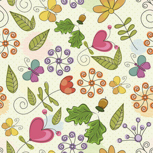 Pattern Vector Element With Doodle Elements