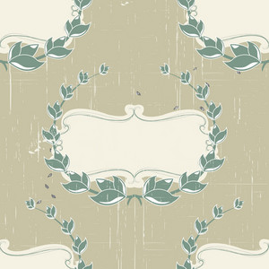 Pattern Vector Element With Vintage Floral Frame