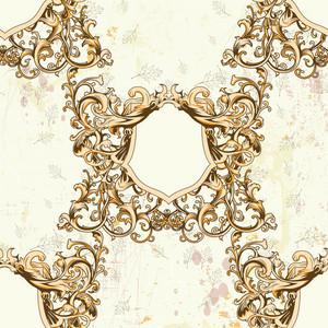 Pattern Vector Element With Vintage Floral Frame