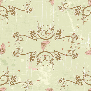 Pattern Vector Element With Vintage Frame