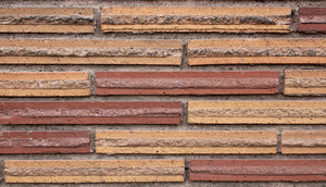 Patterned Brick Wall