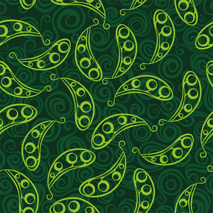 Pea Pod Seamless Green Pattern