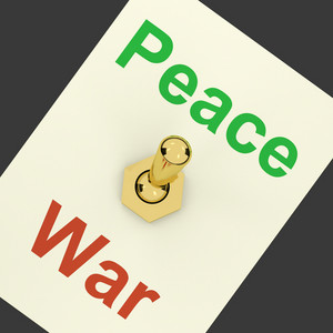 Peace War Switch Showing No Conflict Or Aggression
