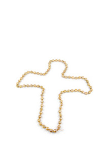 Pearl Necklace Crucifix On White